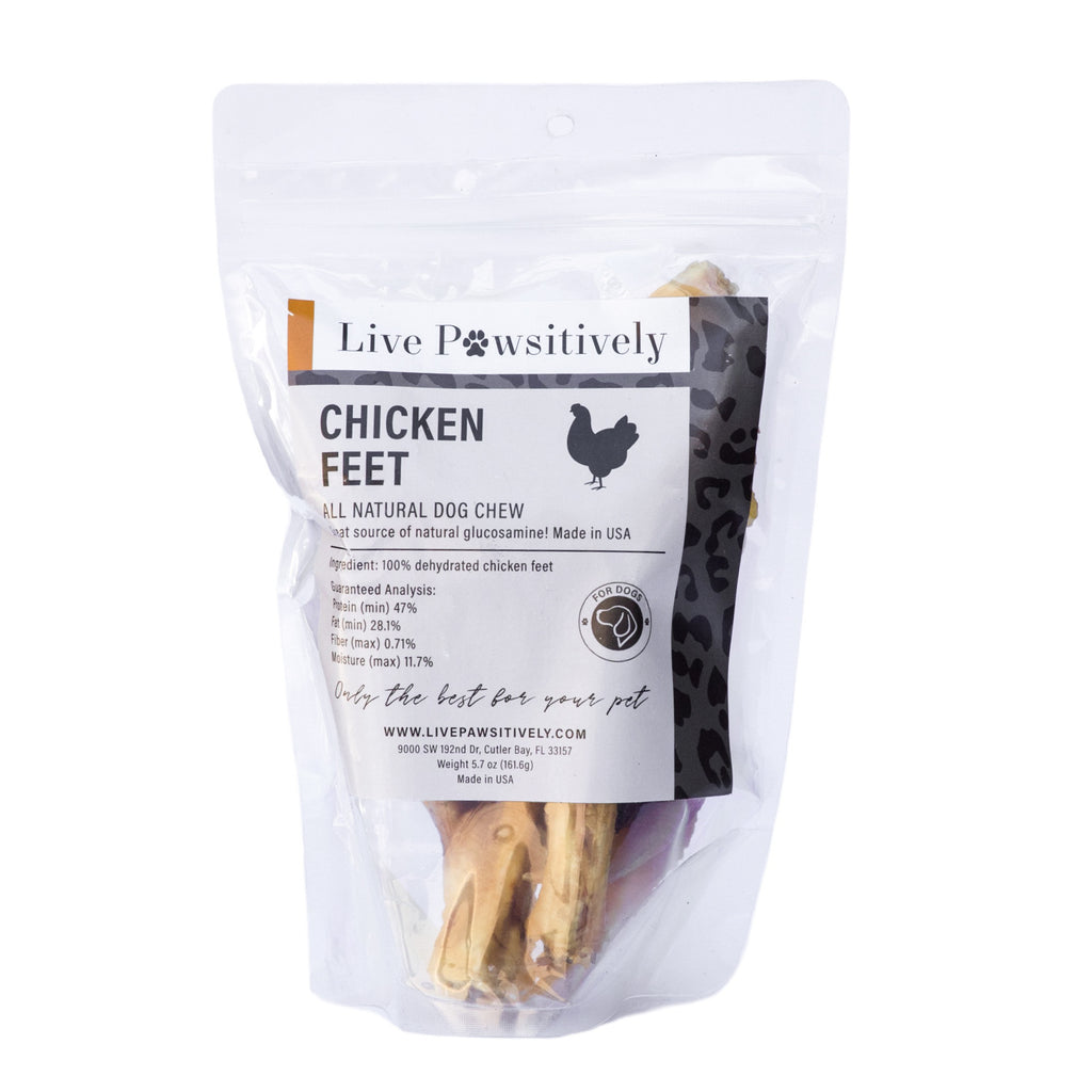 Live Pawsitively Chicken Feet ( Pack of 10)