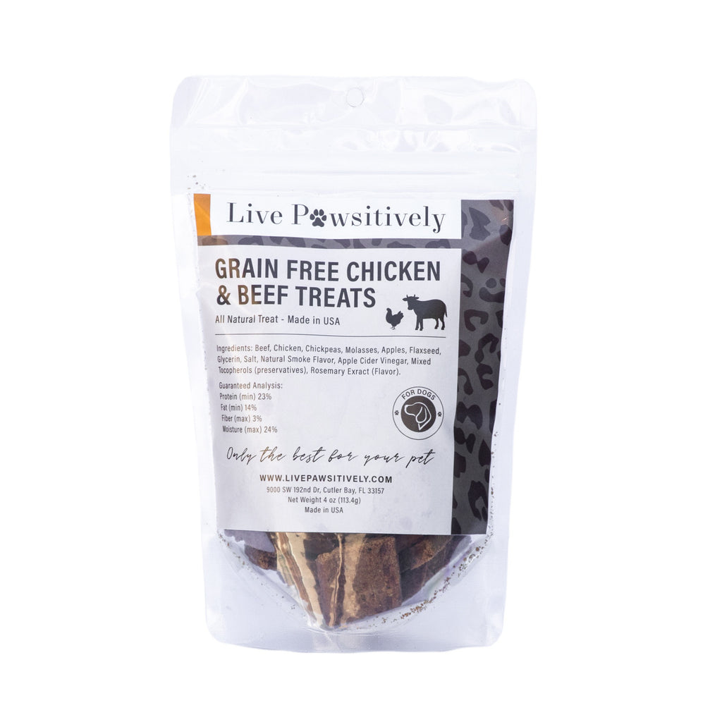 Grain Free Chicken & Beef Treats Limited Ingredient dog treat, made in USA
