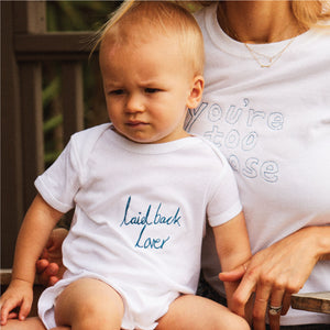 Personalised Baby Grow White