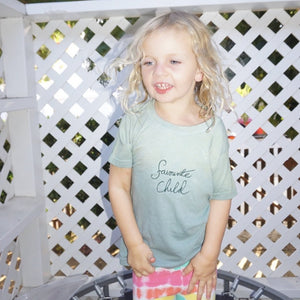 Personalised Kids Tee in Green