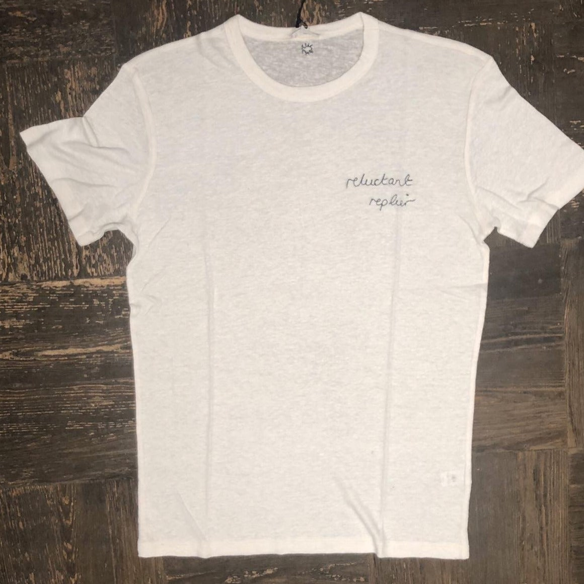 Reluctant replier men's tee