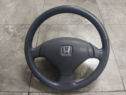 JDM HONDA OEM CIVIC Sir EG EG3 EG6 EG9 EG8 Leather Steering Wheel 92-95 - JDM Alliance LLC