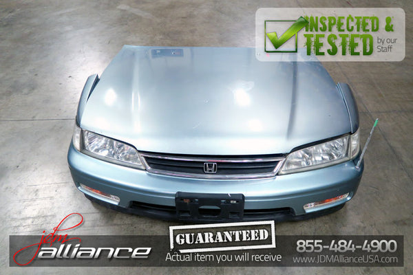 JDM 94-97 Honda Accord Front End Nose Cut Hood Bumper Headlights
