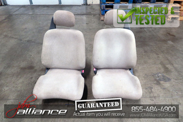 JDM 92-95 Honda Civic EG6 SiR Front Seats with Railings and Sliders R/L - JDM Alliance