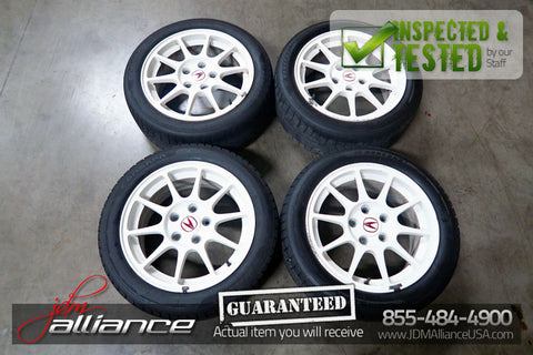 JDM 98-01 Honda Acura Integra Type R DC2 DB8 5x114.3 16 White Wheels Set - JDM Alliance LLC