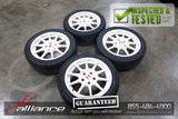 "JDM 98-01 Honda Acura Integra Type R DC2 DB8 5x114.3 16"" White Wheels Set - JDM Alliance"