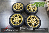 "JDM Subaru Impreza WRX STi V7 5x100 17"" Gold Wheels Rims - JDM Alliance LLC"