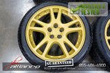 "JDM Subaru Impreza WRX STi V7 5x100 17"" Gold Wheels Rims - JDM Alliance"