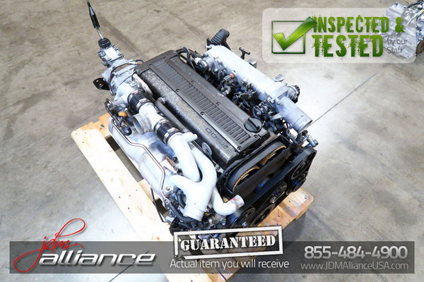 JDM Toyota 1JZ-GTE Twin Turbo 2.5L DOHC Engine R154 5 Speed Transmission - JDM Alliance LLC