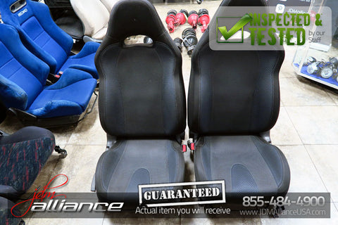 JDM 02-05 Subaru Impreza WRX OEM Front Black Seats w/ Railings and Sliders
