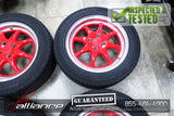 "JDM BRIDGESTONE T's 15x6.5 4X100 15"" Wheels Rims w/ Tires - JDM Alliance"