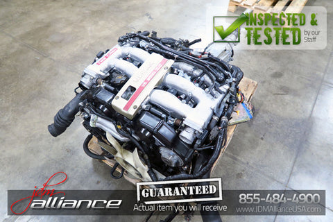 JDM 90-95 Nissan 300ZX Z32 VG30DETT 3.0L DOHC Twin Turbo Engine Auto Trans ECU - JDM Alliance LLC