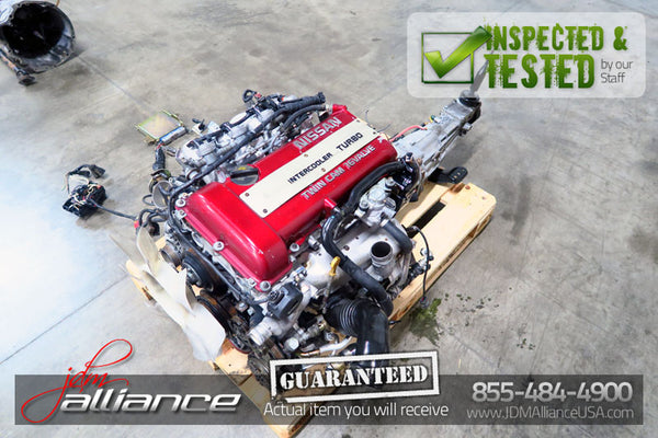 JDM Nissan Silvia SR20DET S13 2.0L DOHC Turbo Engine Red Top 5 Spd Trans ECU - JDM Alliance