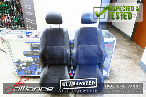 JDM Toyota Altezza SXE10 Front Seats Suede Leather Side Airbag Lexus IS300 - JDM Alliance LLC