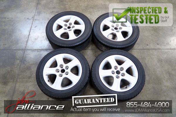 JDM Nissan Silvia S15 OEM 16x6.5 JJ 5x114.3 Wheels Rims - JDM Alliance
