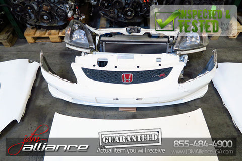 JDM 02-05 Honda Civic Type R EP3 Front End Conversion CTR Nose Cut Hood Bumper - JDM Alliance LLC