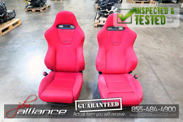 JDM 02-05 Honda Civic Type R EP3 OEM Red Recaro Seats K20A - JDM Alliance
