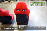 JDM 02-05 Honda Civic Type R EP3 OEM Red Recaro Seats K20A - JDM Alliance LLC