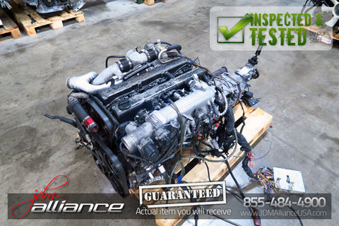 JDM Toyota 1JZ-GTE Twin Turbo 2.5L DOHC Engine w/ R154 5 Speed Transmission ECU - JDM Alliance