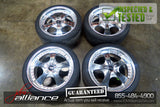 JDM Work Euroline 18x8.5 / 5x114.3 Offset +35 Wheels Rims Chrome - JDM Alliance LLC
