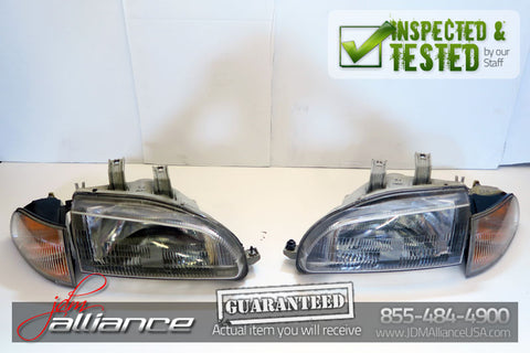 JDM 92-95 Honda Civic EG6 SiR OEM Headlights EG STANLEY - JDM Alliance LLC