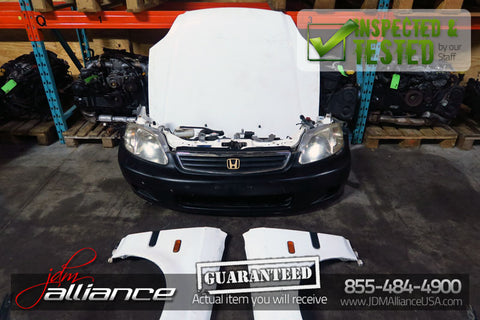 JDM 99-00 Honda Civic EK3 Front Nose Cut Bumper Headlights EK9 EK4 SiR - JDM Alliance LLC