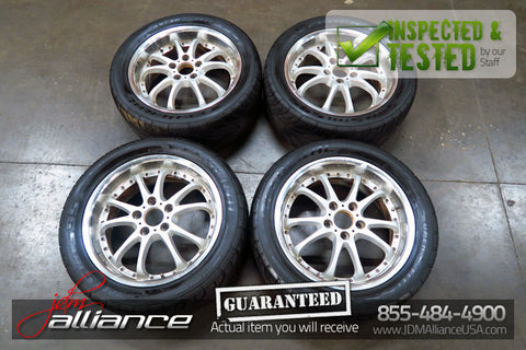 JDM Manaray Vertec VR5 Sport 17x7 Wheels 5x114.3 Rims