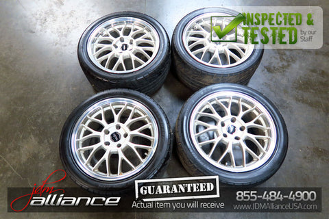 JDM Staggered Erhabenheit Zauber Front 17x8 Rear 17x9 Wheels 5x114.3 Rims