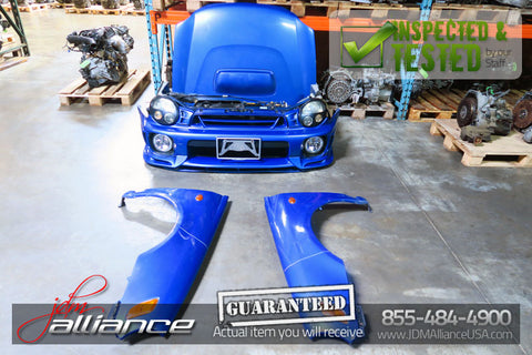 JDM 02-03 Subaru Impreza WRX STi Version 7 Nose Cut Front End Conversion Bugeye