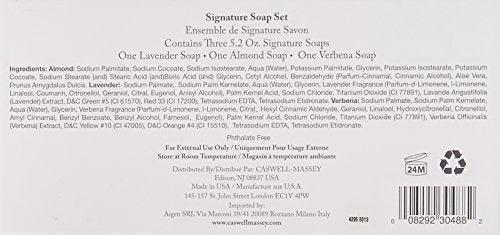 Caswell-Massey Signature Bar Soap Assortment, 3 Count
