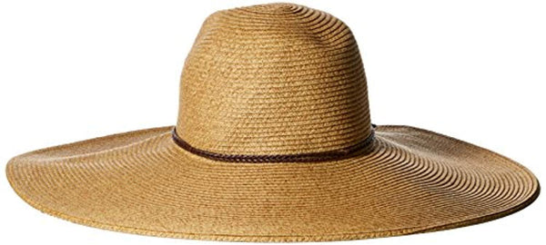 Women's Floppy Sun Hat with Pinched Crown and Twisted Band
