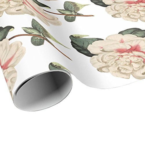 Pink Camellia Flower Wrapping Paper
