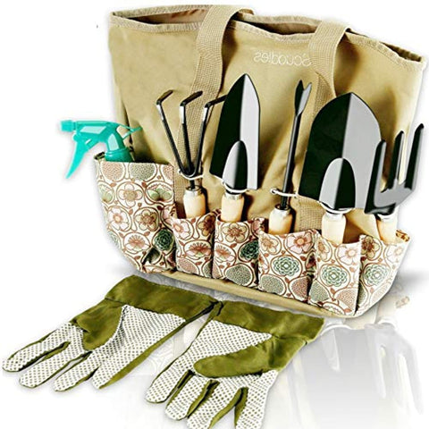 Garden Tools Set - 8 Piece Heavy Duty Gardening Kit