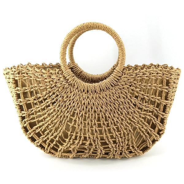Handmade Straw Basket Bag
