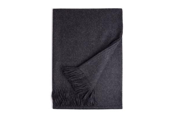 Carbon Baby Alpaca Throw