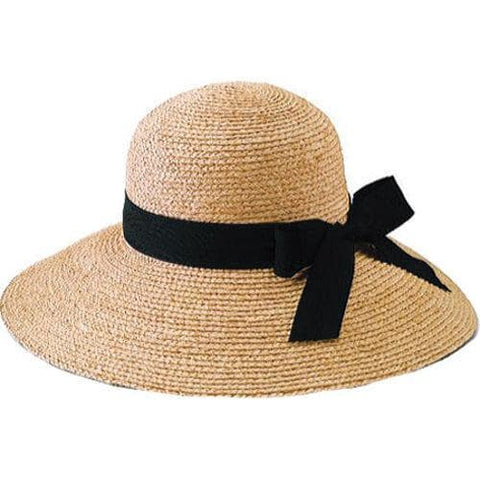 Raffia Black Ribbon Hat