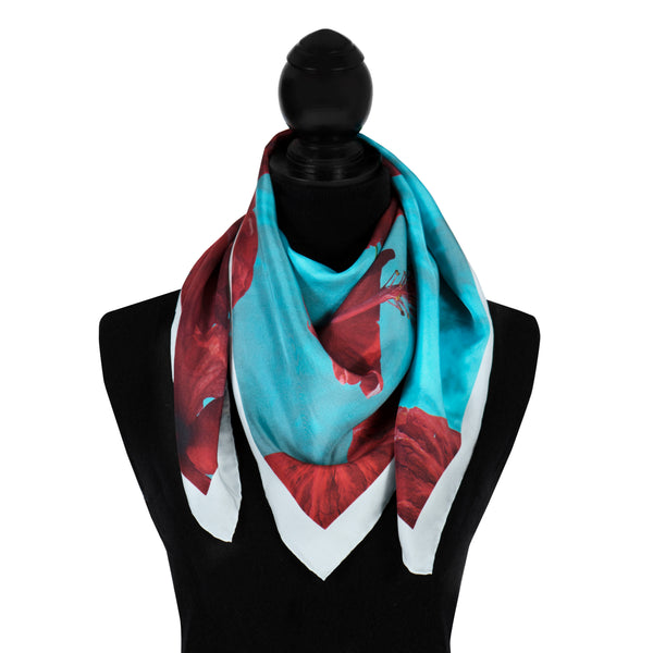 Floral Scarf - Red Hibiscus