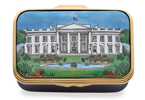 White House Enamel Box from Halcyon Days