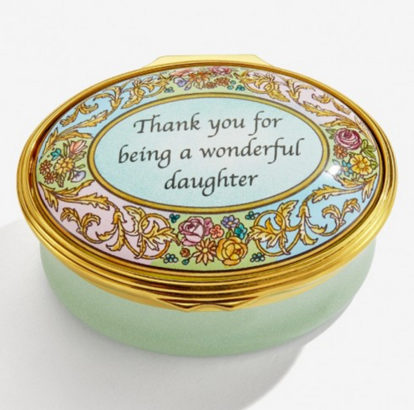 Wonderful Daughter Enamel Box from Halcyon Days