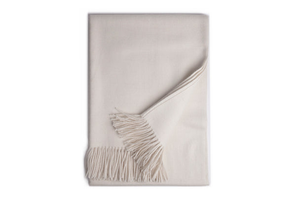 Cream Baby Alpaca Throw