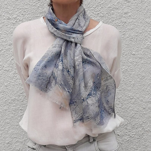 Thin Hand Painted Spring Scarf