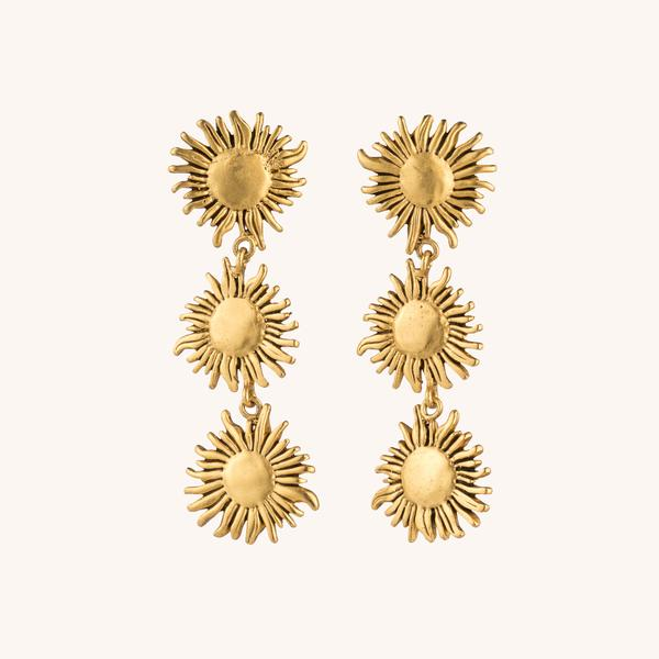 Janet Mavec Sunflower Triple Earrings
