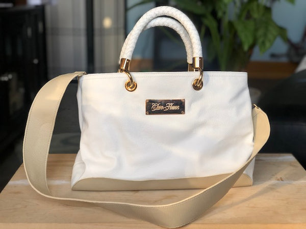 White and Cream Handbag