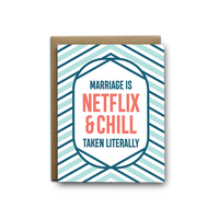 Netflix And Chill Greeting Card - by OKcollective Candle Co. Made in Oklahoma City