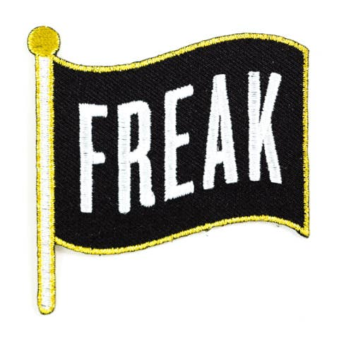 Freak Flag Embroidered Iron-On Patch - by OKcollective Candle Co. Made in Oklahoma City