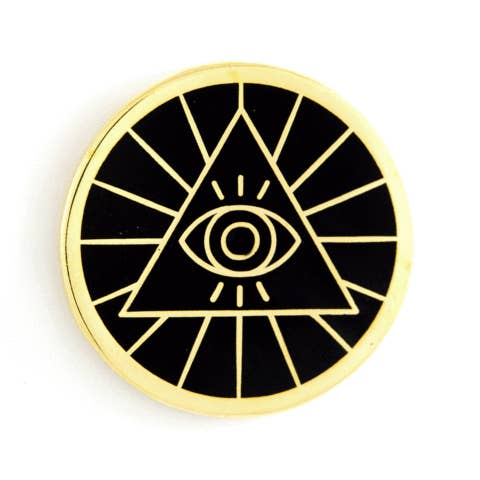 Illuminati Enamel Pin - by OKcollective Candle Co. Made in Oklahoma City