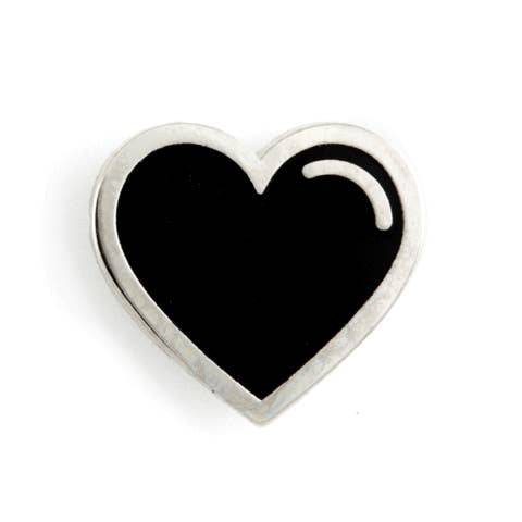 Black Heart Enamel Pin - OKcollective Candle Co.
