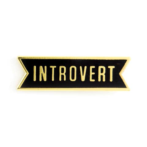 Introvert Enamel Pin - OKcollective Candle Co.