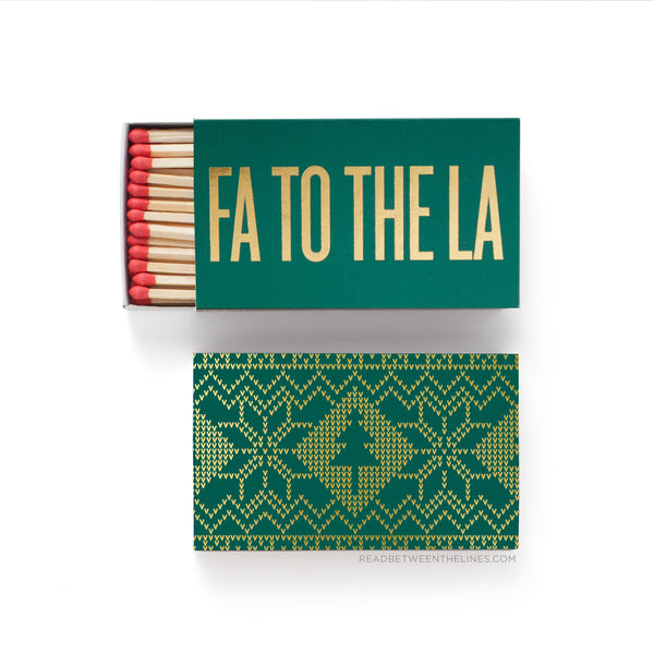 Fa To The La Large Holiday Matchbox - by OKcollective Candle Co. Made in Oklahoma City