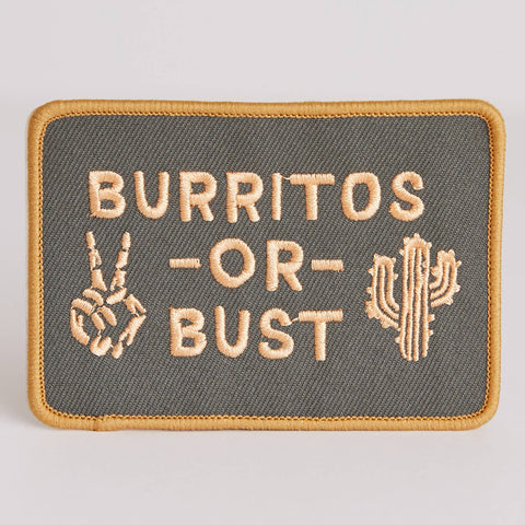 Burritos Or Bust Patch - by OKcollective Candle Co. Made in Oklahoma City